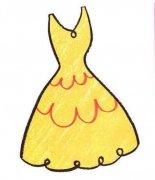幼儿彩色连衣裙简笔画图片