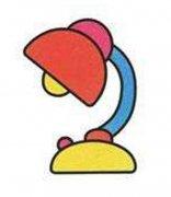 少儿简单的彩色台灯简笔画图片