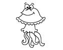 卡通水母简笔画图片