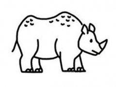 小学生犀牛简笔画图片