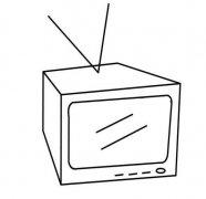 儿童立体电视机简笔画图片