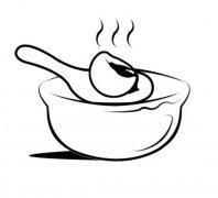 吃豆沙汤圆简笔画图片