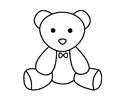 可爱玩具熊简笔画图片及步骤教程