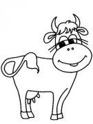 卡通动物简笔画:牛