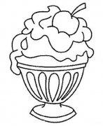一杯水果冰淇淋简笔画图片