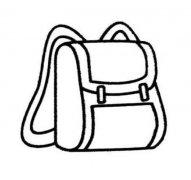 学生背包简笔画图片