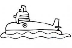 儿童海中潜艇简笔画图片
