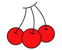 大红樱桃简笔画图片彩色