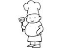 胖大厨厨师简笔画图片包含步骤