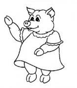 卡通猪简笔画图片