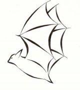 蝙蝠侧面简笔画图片