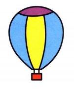 涂色热气球简笔画图片