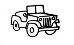 儿童简笔画:敞篷吉普车