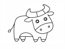 小黄牛简笔画