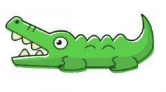 带颜色的鳄鱼简笔画图片