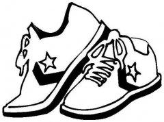 时尚康威鞋子简笔画图片