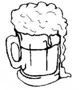 大啤酒杯简笔画图片