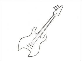 电吉他简笔画