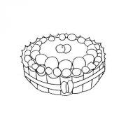 水果生日蛋糕简笔画图片