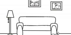 沙发旁的台灯简笔画图片大全