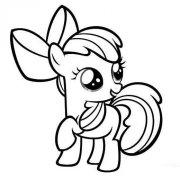 幼儿小马宝莉苹果丽丽简笔画图片