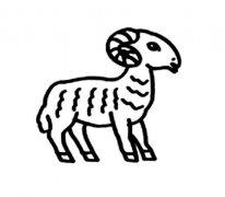 儿童羊简笔画图片