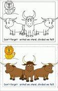 公牛简笔画涂色卡