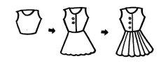 裙子的简笔画画法步骤:怎么画裙子