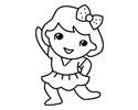做早操的小女孩简笔画步骤画法分解图片