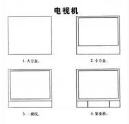 电视机简笔画教程步骤图解:怎么画电视机