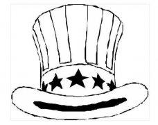 幼儿关于美国山姆大叔高礼帽子简笔画图片