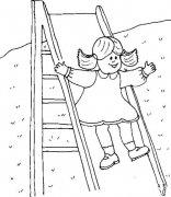 小朋友玩滑滑梯简笔画大全