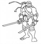 忍者神龟莱奥纳多简笔画图片