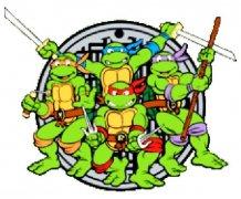 带颜色的忍者神龟兄弟四人简笔画图片大全