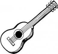 儿童木吉他简笔画图片