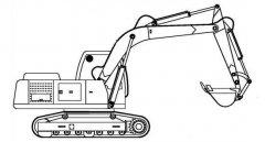 大型挖掘机简笔画图片
