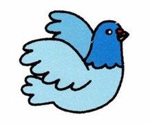 幼儿园大班彩色鸽子简笔画图片大全