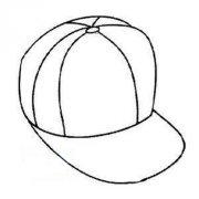 少儿鸭舌帽简笔画图片