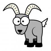 彩色的卡通羊简笔画图片