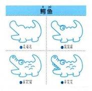 鳄鱼的简笔画画法步骤:怎么画鳄鱼