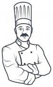 中餐厨师简笔画图片