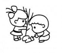 幼儿植树节简笔画图片