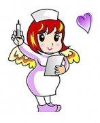 带颜色的护士简笔画图片
