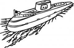 军用潜水艇简笔画图片