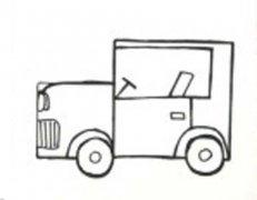 幼儿园吉普车简笔画