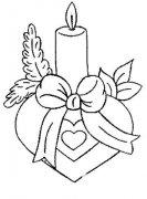 生日蜡烛简笔画