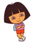 儿童彩色朵拉简笔画图片