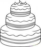 三层蛋糕简笔画