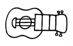 夏威夷小吉他尤克里里简笔画图片