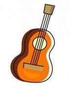 小学生彩色吉他简笔画图片